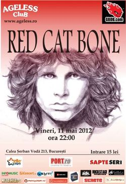 Concert tribut THE DOORS cu Red Cat Bone in Ageless Club Bucuresti