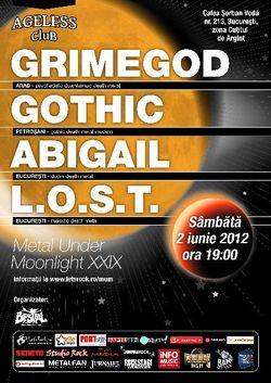 Concert Grimegod, Gothic, Abigail si L.O.S.T. in club Ageless Bucuresti