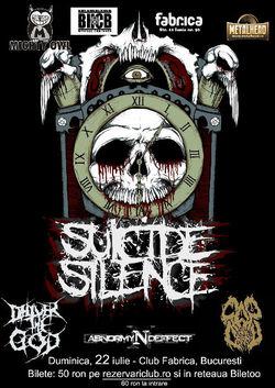 Concert Suicide Silence, H8, Cap de Craniu  in Club Fabrica din Bucuresti