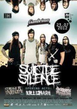 Concert Suicide Silence luni in Gambrinus Pub din Cluj-Napoca