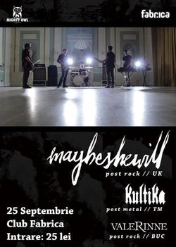 Concert Maybeshewill in Club Fabrica