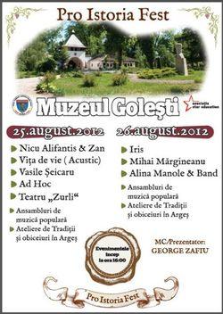 Pro Istoria Fest la Muzeul Golesti: Iris, Vita De Vie si multi altii
