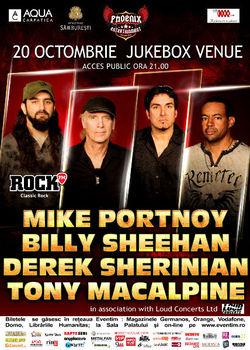 Concert Portnoy, Sheehan, MacAlpine si Sherinian la Bucuresti!