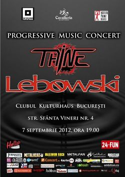 ANULAT Concert Lebowski si Taine pe 7 septembie in Kulturhaus
