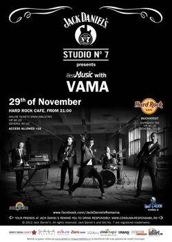 Vama: concert la Hard Rock Cafe Bucuresti