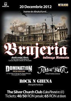 Brujeria, Domination, Total Riot, Rock N Ghena: Concert in Bucuresti la Silver Church