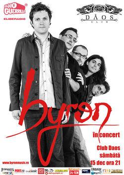 Concert Byron pe 15 decembrie la Timisoara