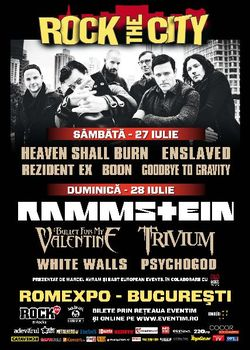 Poze Rock The City 2013: Concert Rammstein la Bucuresti in iulie 2013 - Concerte 2014 - 2015