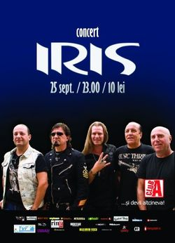 Concert IRIS in Club A din Bucuresti, Miercuri 25 Septembrie