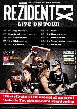 Concert Rezident EX la Sibiu, in Oldies Pub, pe 29 Octombrie