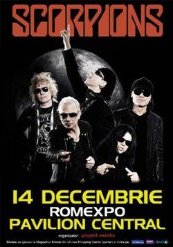Concert Scorpions la Bucuresti pe 14 decembrie 2013
