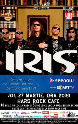 Concert Iris pe 27 martie la Hard Rock Cafe din Bucuresti
