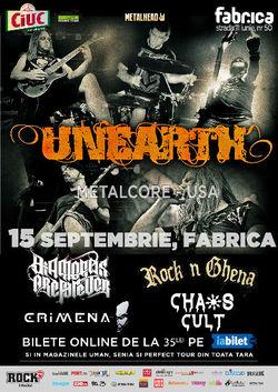 UNEARTH canta in premiera in Romania pe 15 septembrie la fabrica