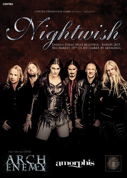 Nightwish la Bucuresti, pe 10 decembrie 2015