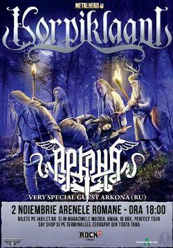 Korpiklaani si Arkona canta pe 2 noiembrie la Arenele Romane din Bucuresti