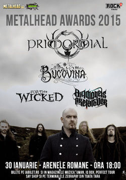 PRIMORDIAL, Bucovina, For The Wicked si Diamonds Are Forever  canta pe 30 ianuarie la METALHEAD Awards