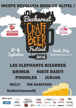 Bucharest Craft Beer Festival va avea loc in perioada 2-4 septembrie