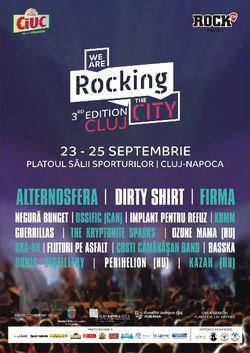 Festivalul We Are Rocking the City va avea loc in perioada 23-25 septembrie 2016