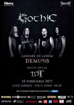 GOTHIC lanseaza albumul 'Demons' pe 10 februarie in Club Fabrica
