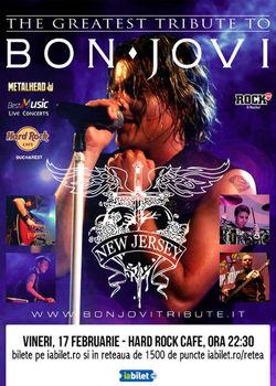 Cel mai bun tribut Bon Jovi cu 'New Jersey' din Italia pe 17 februarie la Hard Rock Cafe