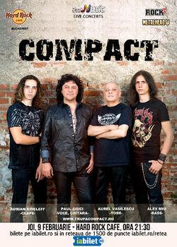 Compact concerteaza pe 9 februarie la Hard Rock Cafe
