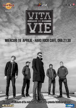 Concert Vita de Vie - Electric pe 19 aprilie la Hard Rock Cafe