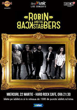 Concert Robin and the Backstabbers pe 22 martie la Hard Rock Cafe