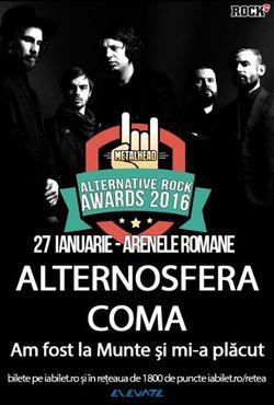 Alternosfera si Coma canta pe 27 ianuarie la Arenele Romane (cort incalzit)