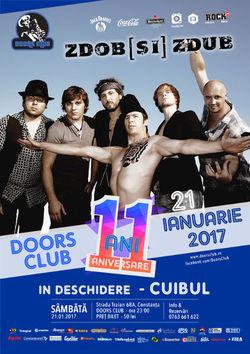 Concert Zdob si Zdub pe 21 ianuarie in Club Doors, Constanta