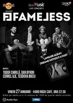 Fameless lanseaza albumul de debut pe 27 ianuarie la Hard Rock Cafe