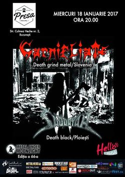 Carnifliate  death grind sloven in premiera la Bucuresti