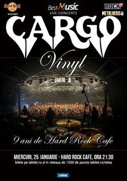 Concert Cargo cu lansare de Vinyl pe 25 ianuarie la Hard Rock Cafe