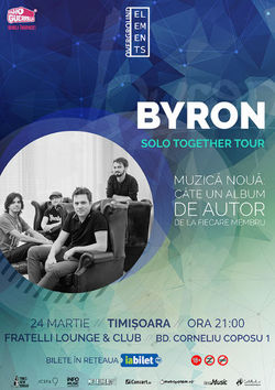 byron concerteaza Solo Together la Timisoara