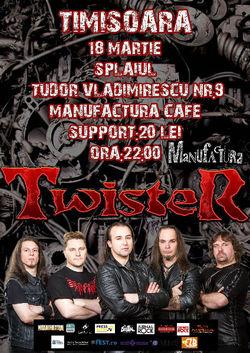 Concert Twister in premiera in Timisoara