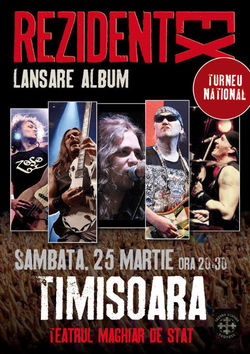 Concert Rezident Ex pe 25 martie la Timisoara