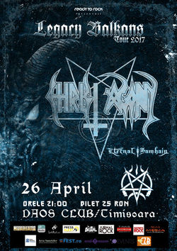 Concert Christ Agony si Eternal Samhain live in Timisoara