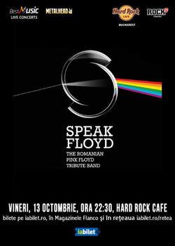 Concert Tribut Pink Floyd cu Speak Floyd pe 13 octombrie la Hard Rock Cafe