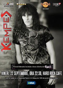 Concert KEMPES pe 22 septembrie la Hard Rock Cafe