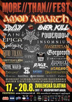 More Than Fest, 17-20 august 2018, Slovacia