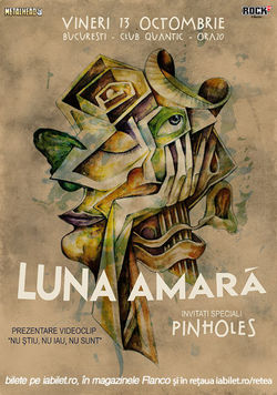 Concert si lansare de videoclip Luna Amara pe 13 octombrie in Quantic