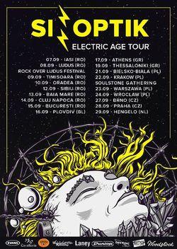 Sinoptik concerteaza in Romania in cadrul turneului The Electric Age din luna septembrie