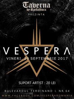 Vespera va sustine un concert in Taverna by Rockcultura (AB)