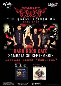 Scarlet Aura lanseaza albumul 'Memories' la Hard Rock Cafe pe 30 Septembrie