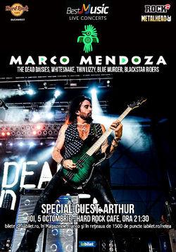 Concert Marco Mendoza la Hard Rock Cafe din Bucuresti pe 5 Octombrie