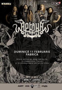 Concert Arkona pe 11 Februarie in Fabrica din Bucuresti