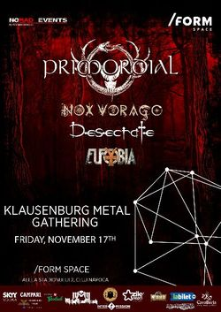 Klausenburg Metal Gathering pe 17 noiembrie la Cluj, in Form Space