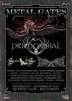 Metal Gates Festival anunta Primordial, The Foreshadowing si Riul Doamnei la Bucuresti