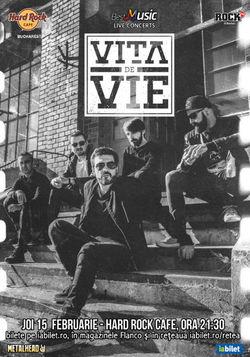 Concert Vita de Vie - Electric la Hard Rock Cafe pe 15 Februarie