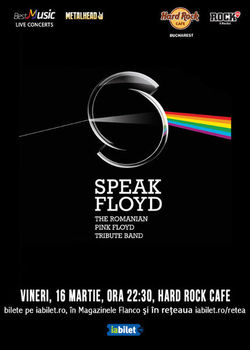 Concert Tribut Pink Floyd cu Speak Floyd pe 16 Martie la Hard Rock Cafe