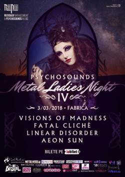 Psychosounds Metal Ladies Night IV pe 3 martie in Fabrica